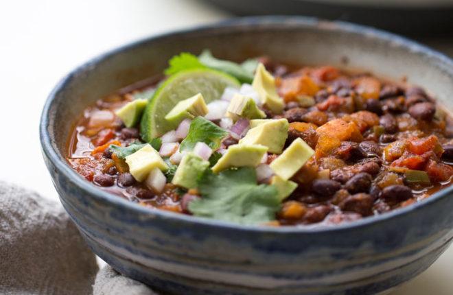 Black Bean Chili Vegetarian Sherry Baby Recipes